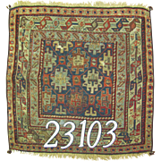 Antique Persian handmade Sumac rug, approx. 1'-101'-10