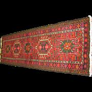 Persian Handmade Karadjeh Rug, Approx. 2'-1X6'-8
