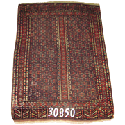 Turkish handmade Turkeman Rug, approx.4'-6X6'-2