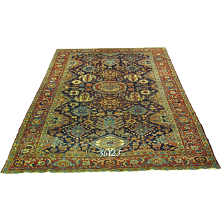 Persian Handmade Heriz Rug Approx. 8'-4X11'-5