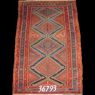 Persian Handmande Kurd Rug, Approx. 3'-10X6'-4
