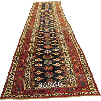 Persian Handmade Veramin Rug Approx. 3'-9X18'-1