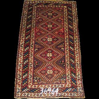 Persian Handmade Kurd Rug, Approx. 3'-11X7'-6