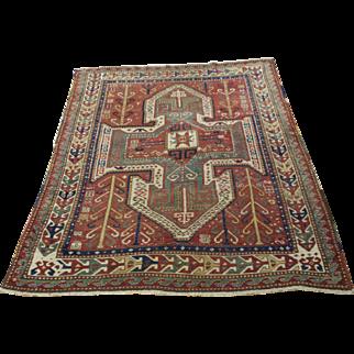Persian Handmade Kazak Rug, Approx. 5'-3X7'-0