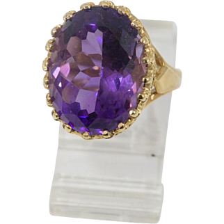 Fit for a Queen or Princess Vintage Heritage Amethyst Ring