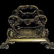 English Letter Holder in Brass, Letter Rack