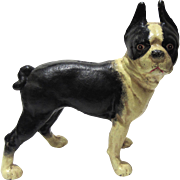 Cast Iron Boston Terrier Dog Doorstop