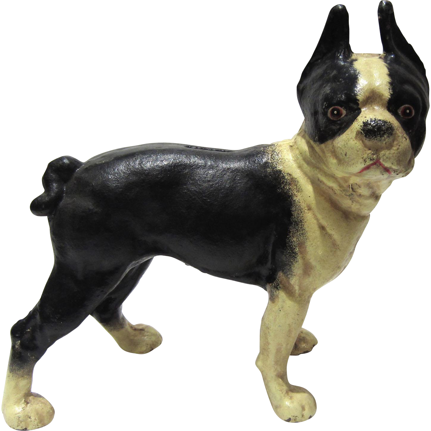 Cast iron boston terrier dog doorstop sold on ruby lane - Cast iron dog doorstop ...