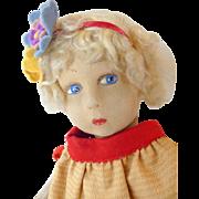 Cloth doll circa 1930's.