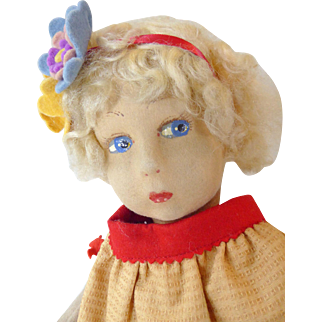 Cloth doll circa 1930's.