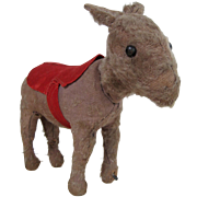 Early Steiff Donkey with rotating head