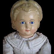Large wax over papier maché Pumpkin doll