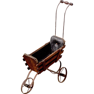 Genuine Victorian dolls carriage or pram