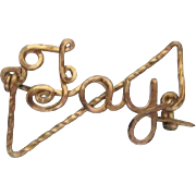 """Small rolled gold name pin """"Fay"""""""