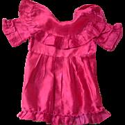 1930's Dolls red satin dress