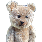 Early German teddy bear with boot button eyes