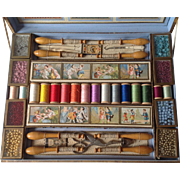 French Antique childs sewing presentation box.