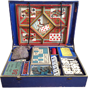 French antique games box