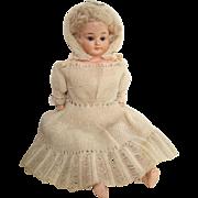 German Schilling composition doll