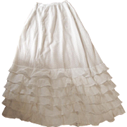 Fine cotton Victorian spot petticoat for dolls clothes