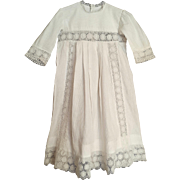 French Pique baby or doll gown