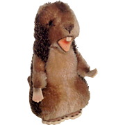Steiff Naggy Beaver larger size with button