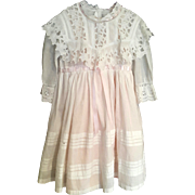 Fine dress for small child or large doll