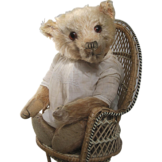 Rare 1920's faded pink Farnell bear