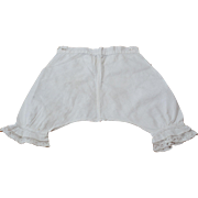 Pantaloons for an early  antique doll