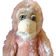 Large Pink Farnell Monkey 1930's