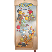 French clown theme pinball game