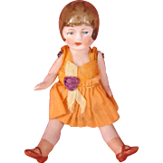 All Bisque flapper doll c.1920's