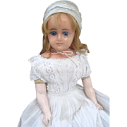 Reinforced wax doll c1890