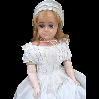 Reinforced wax doll c1890
