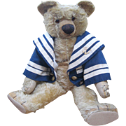 Musical Chad Valley Teddy Bear c.1930's with button