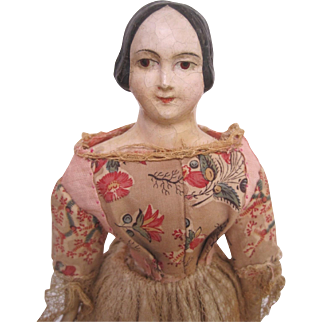 Early Papier Mache Milliners Model doll c.1850