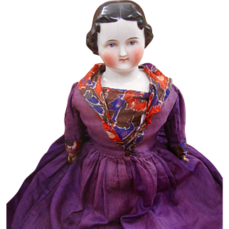 Large China head doll 25 inches