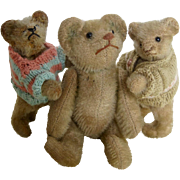 Three little bears including 2 Steiff