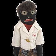 Cloth doll Golly primitive 1930's