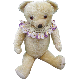 Merrythought English teddy bear 1940s with label