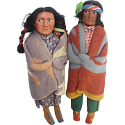 Snookum Native American doll family c.1920