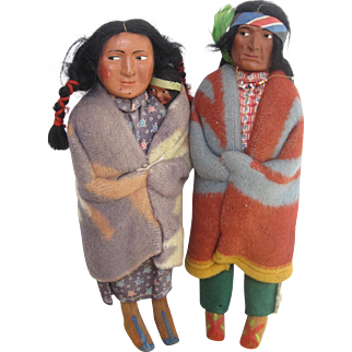 Snookum Native American doll family c.1920