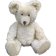 German White Mohair Teddy bear by Diem