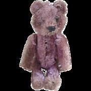 Purple Schuco miniature bear c.1920