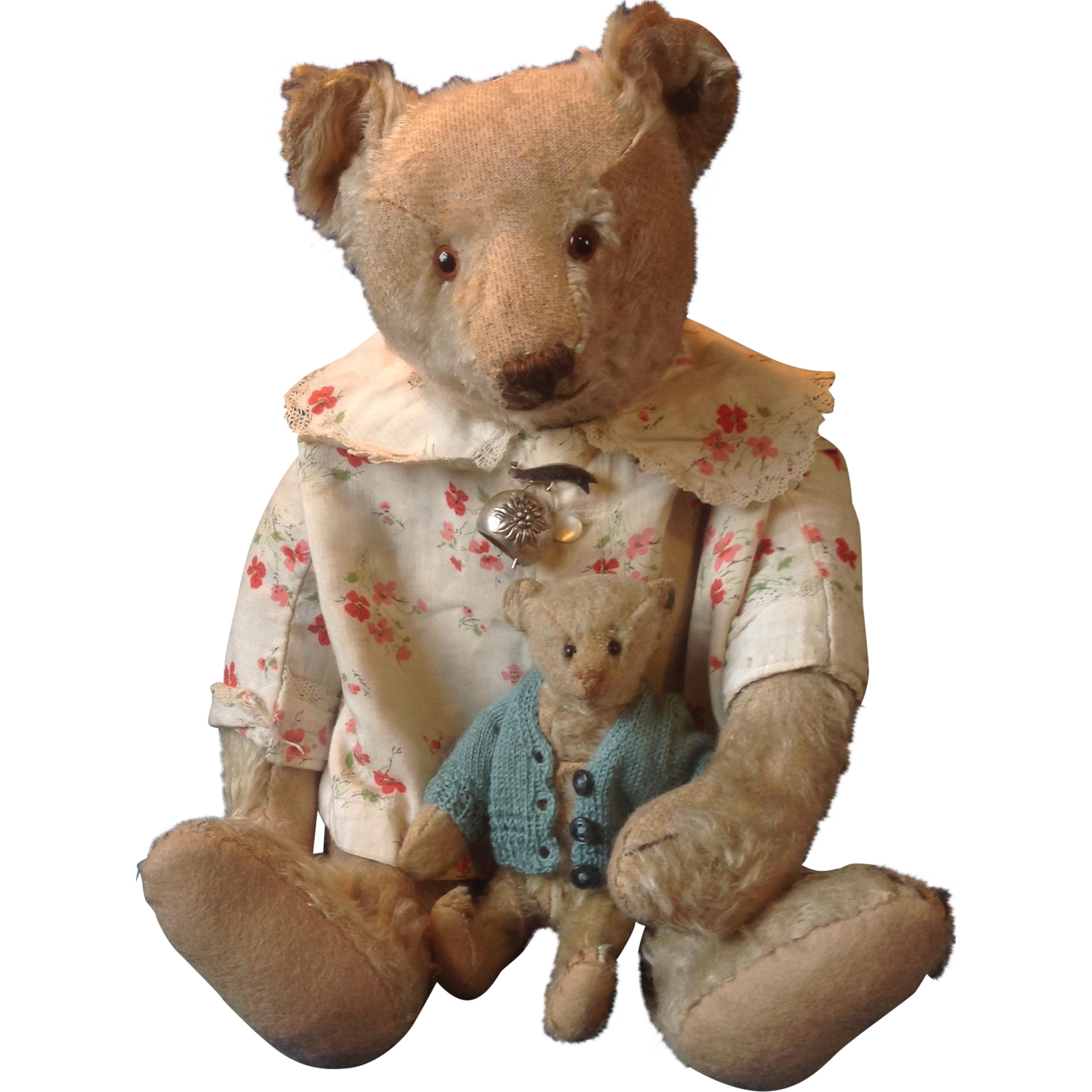 White Steiff bear with button early 20's