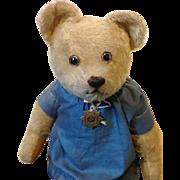 1920's British teddy bear 22 inches