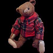 10 Inch cinnamon Steiff bear with button