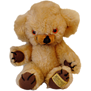 Small Merrythought Cheeky bear with label on foot