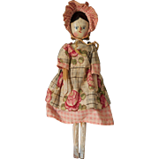 10 inch Peg wooden doll