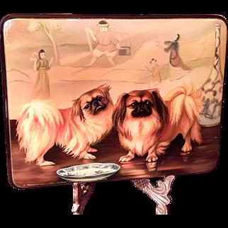Pekingese Handpainted Russian Box